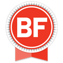 Social, Ribbon, Buzzfeed OrangeRed icon