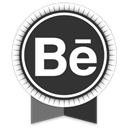 Social, Behance, Ribbon DarkSlateGray icon