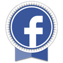 Ribbon, Facebook, Social DarkSlateBlue icon