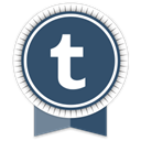 Social, Tumblr, Ribbon DarkSlateGray icon