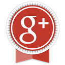Social, google, Ribbon Firebrick icon