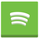 play, volume, sound, media, player, Audio, music, Spotify YellowGreen icon