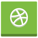 Social, Dribble, network, Basketball, creative, dribbble, Communication, portfolio, Ball, Design, media, graphic YellowGreen icon