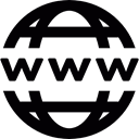 net, network, worldwide, internet, Domain, technology Black icon