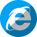 Explorer, internet DeepSkyBlue icon