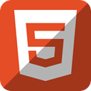 html5, Html 5 Brown icon