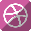 dribbble PaleVioletRed icon