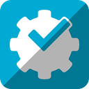 Foursquare, powered, by DarkTurquoise icon