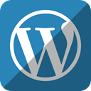 press, word, Wordpress SteelBlue icon