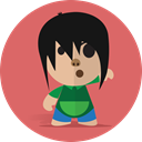 school, cheerful, Child, Boy, Character, Cartoon, smile IndianRed icon
