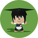 Boy, Child, cheerful, Character, school, smile, Cartoon OliveDrab icon