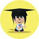 Child, Boy, Character, school, Cartoon, cheerful, smile Khaki icon
