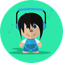 smile, Boy, cheerful, Child, school, Cartoon, Character Turquoise icon