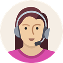 Headset, user, mic, woman, Female, Avatar, support Linen icon