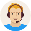 young, Avatar, male, Headset, user, Man, support Linen icon
