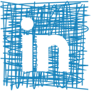 Pen, Social, Sketch, Linkedin, media SteelBlue icon