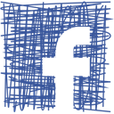 Facebook, Social, media, Pen, Sketch DarkSlateBlue icon