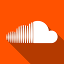 Social, Soundcloud OrangeRed icon