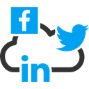 Mobile, social networks, group, Linkedin, twitter, Facebook, meeting Black icon