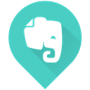 Note, Evernote, Notes MediumTurquoise icon