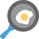 meet, Cook, egg, Pan, Cooking DimGray icon