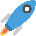 Aliens, fuel, exploration, nasa, Rocket, spaceship, space CornflowerBlue icon