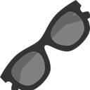 Eyes, Accessories, Protection, Clothes, hipster, sunglasses Black icon