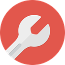 Setting, Service, Wrench, tool, work, tools IndianRed icon