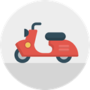 transport, Motorbike, italy, Vespa, Scooter, travel WhiteSmoke icon