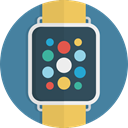 smartwatch, Clock, watch, Device, time, Smart SteelBlue icon