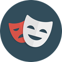 Comedy, happy, theatre, Masks, Drama, sad DarkSlateGray icon