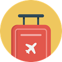 flight, luggage, suitcase, travel, journey, trip SandyBrown icon