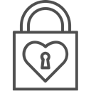 valentine, valenticons, valentines, love, Heart, Lock, Key Black icon