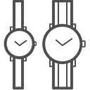 valentine, Couple watch, valenticons, valentines, date Black icon
