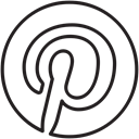 media, share, pin, pinterest, Board, Explore, Social Black icon
