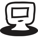 Communication, handrawn, Business, web, screen, monitor Black icon