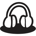 creative, handrawn, mic, shape, Multimedia, music, Headphone Black icon