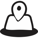 Pointer, Direction, location, Country, handrawn, national, Map Black icon