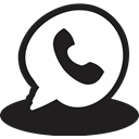 Reciever, Communication, Message, telephone, Call, handrawn, phone Black icon