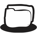 handrawn, files, documents, security, secure, Protection, Folder Black icon