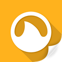 Grooveshark, engine, online, search, shark, Service, support Orange icon