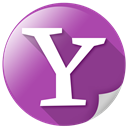 yahoo, web, Communication, zoom, search DarkMagenta icon