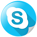 Chat, telephone, Call, Skype, Communication DeepSkyBlue icon
