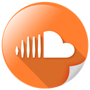 Soundcloud, square, Logo, Big, online Coral icon