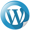 Blogging, Wordpress, Wp, Communication SteelBlue icon