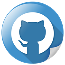 Connection, Logo, Github, network, Social SteelBlue icon