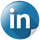 internet, network, Connection, Communication, Linkedin SteelBlue icon