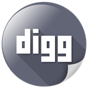 media, Logo, Message, internet, Digg, Communication DimGray icon