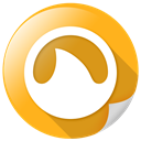 Grooveshark, website, search, view Goldenrod icon
