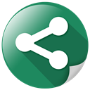 share, video, internet, media, Communication SeaGreen icon